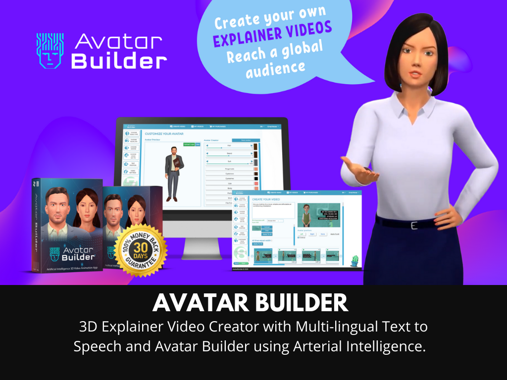 Avatarbuilder- NEW EXPLAINER VIDEO SOFTWARE LAUNCH