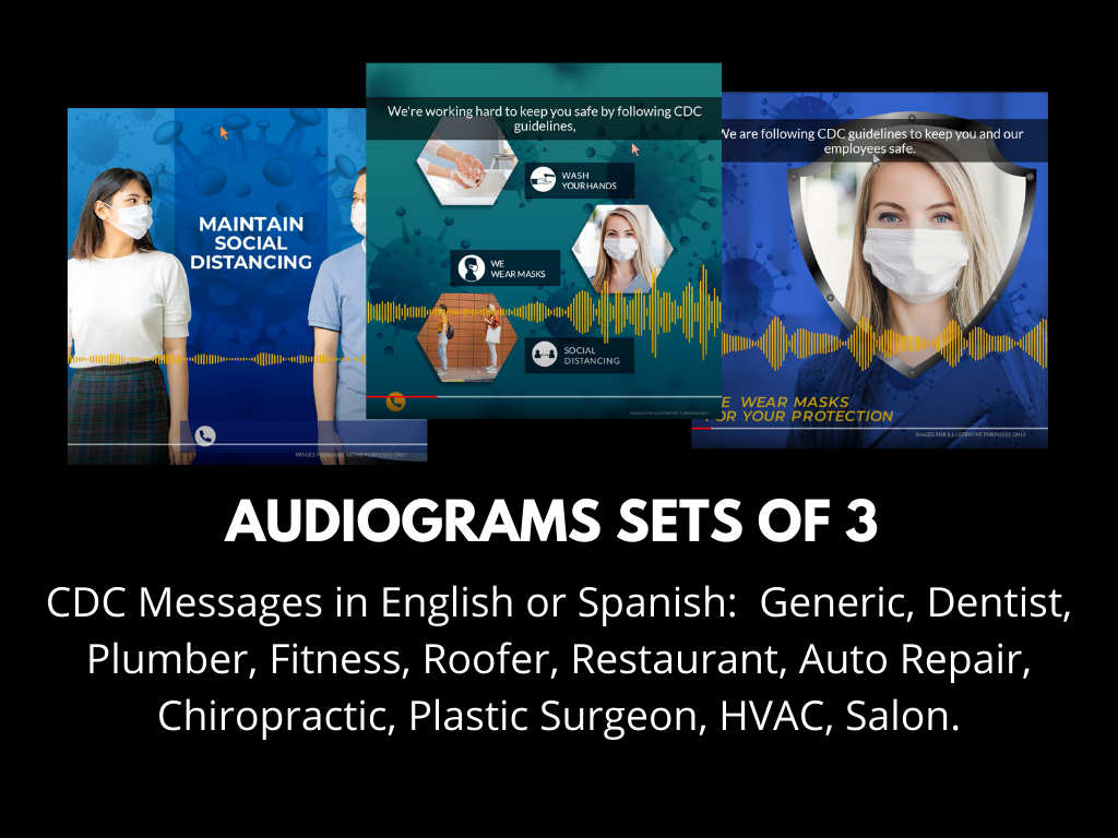 Audiograms  Sets Of 3 Recorded CDC Messages, English Or Spanish (deposit Fee)