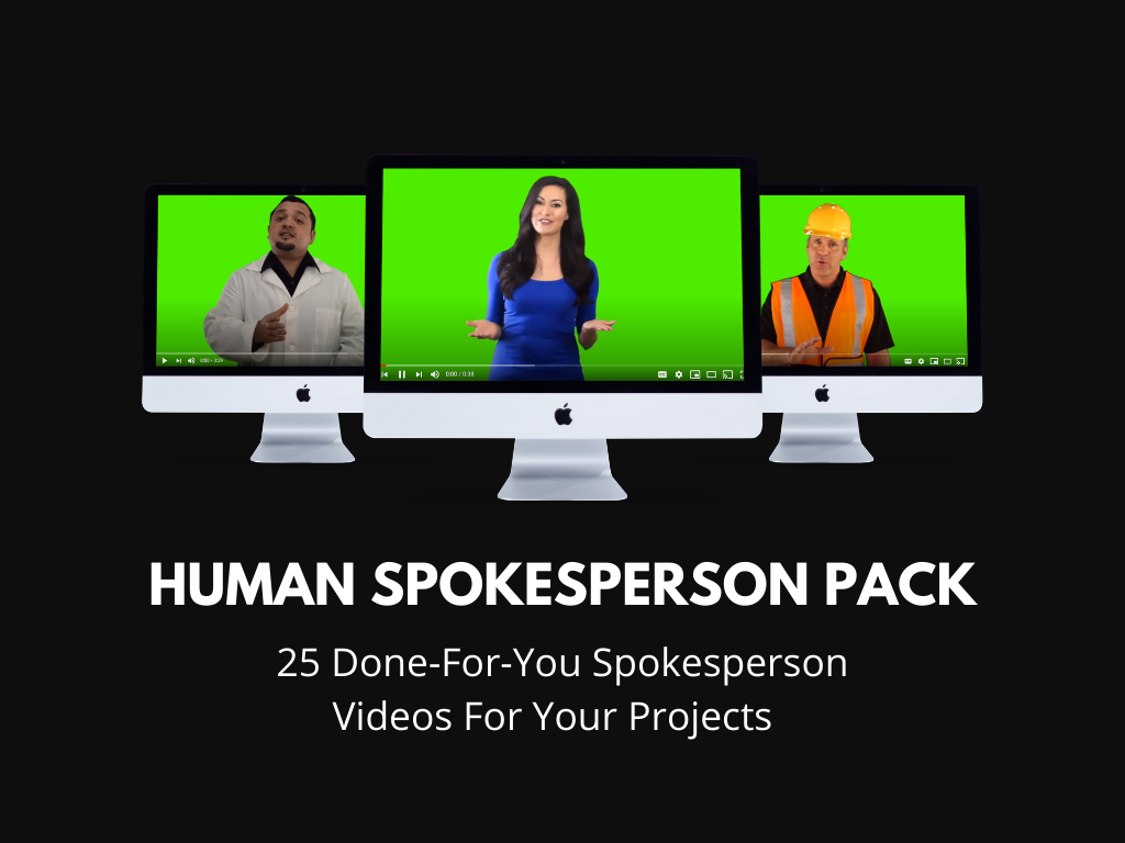 Human Spokesperson Video Pack